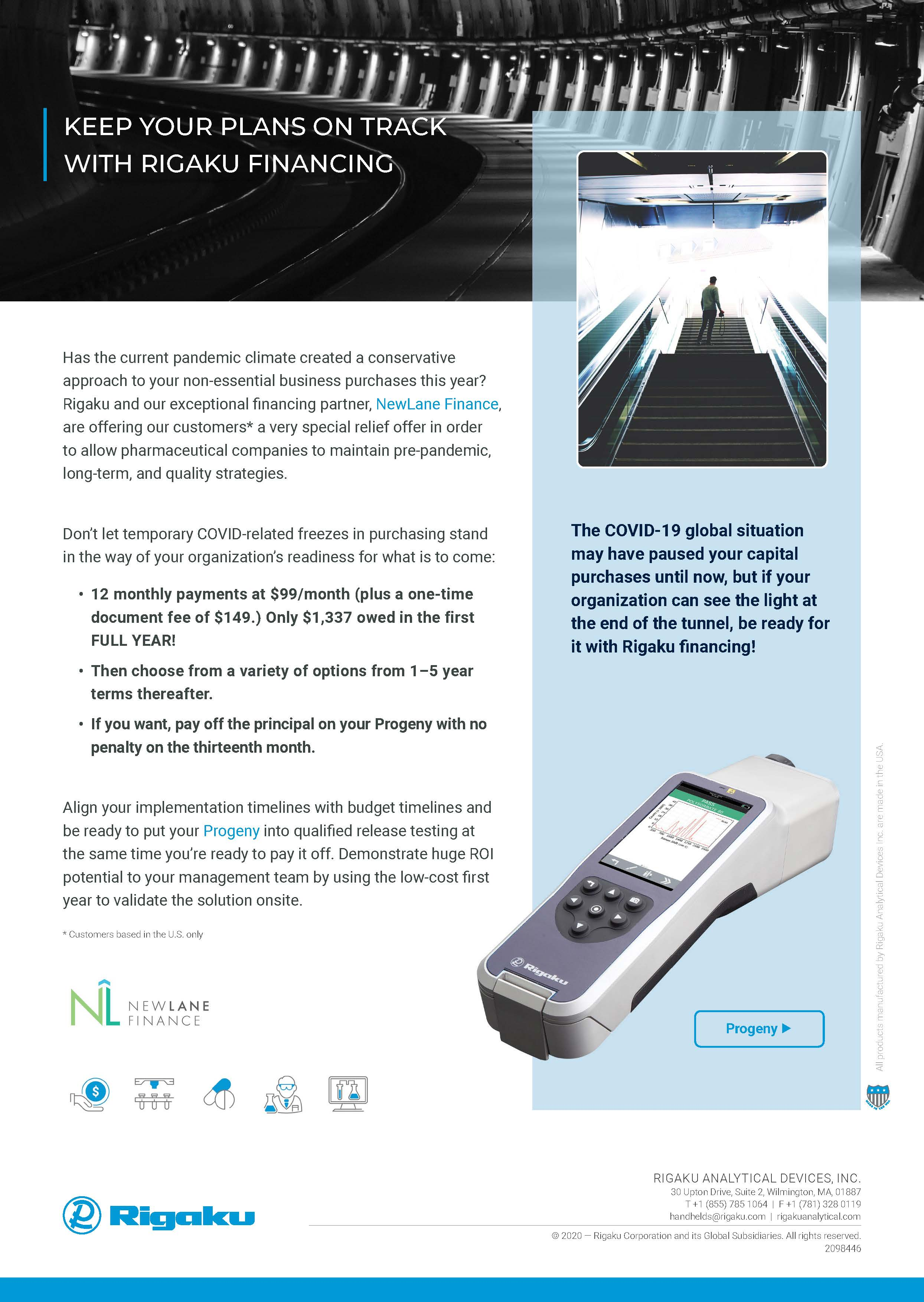 Flyer Progeny Special Financing