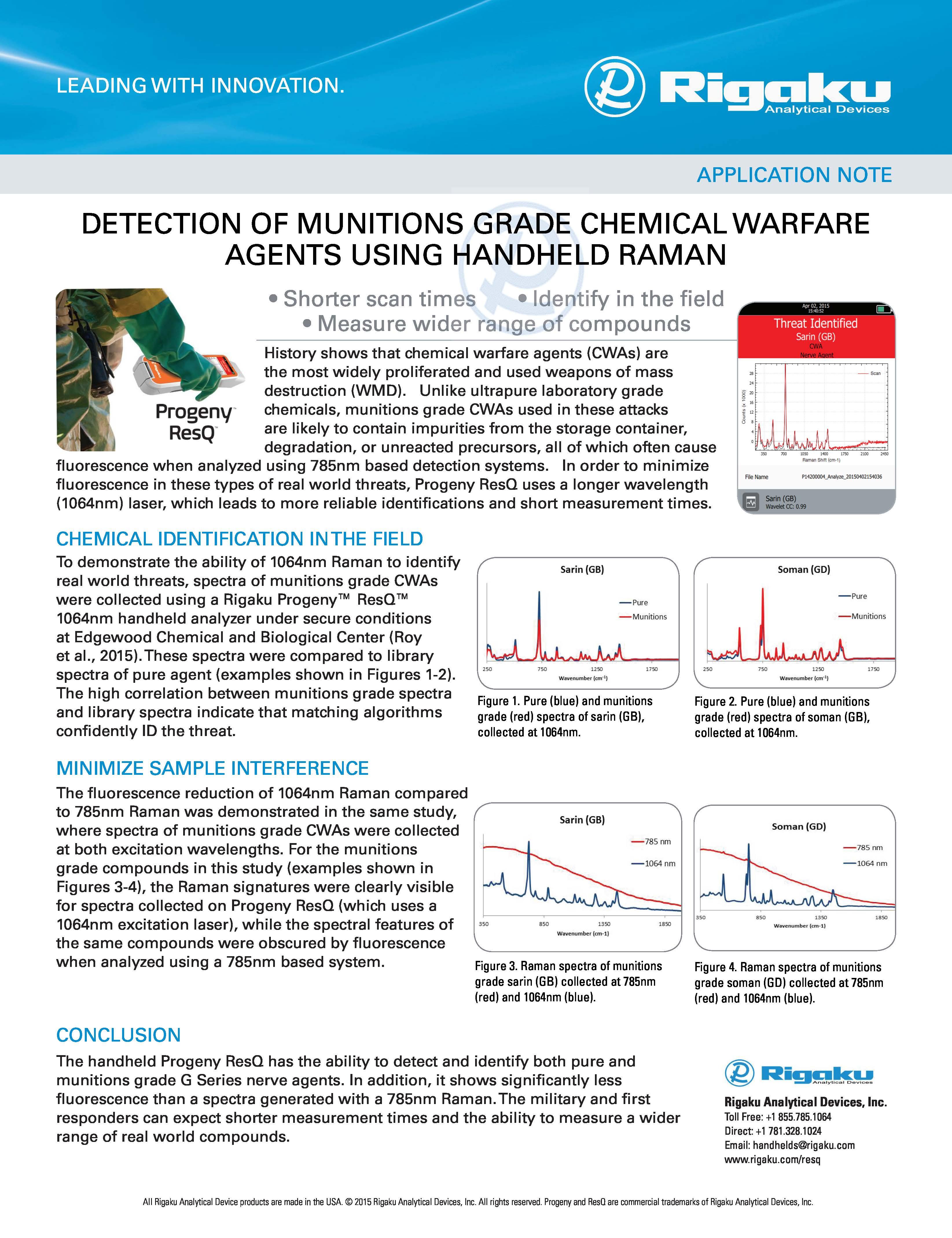 Detection of Chemical Warfar Agents App Note 2015Dec07